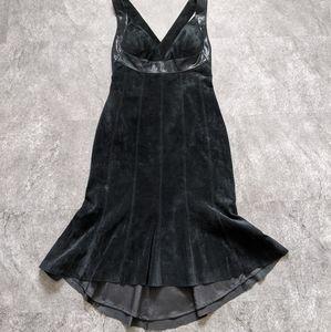 Danier genuine leather suede black dress